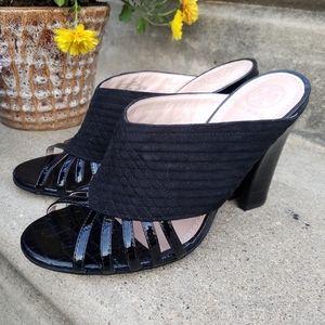 Tory Burch Brida Mules Slip On Black Size 6.5